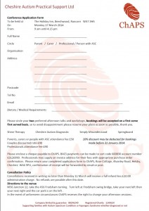 ChAPS application form 2014 image