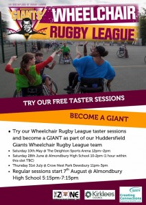 Huddersfield Giants Wheelchair Rugby League Taster Sessions image
