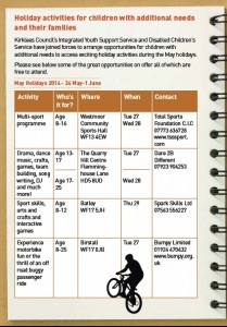 May activities pg1