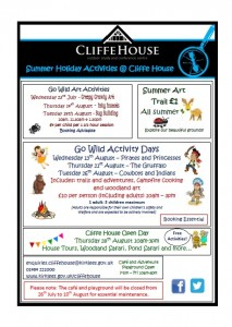 Cliffe house activity flyer summer 2014 image