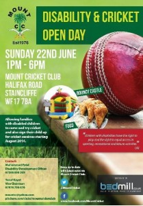 Disability & cricket open day