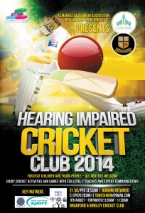 Cricket Club for deaf young people 2014