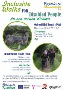 November Inclusive walks poster image
