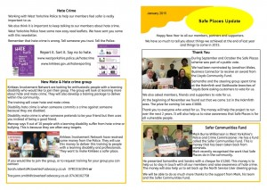 Newsletter January 2015 - safe places update image
