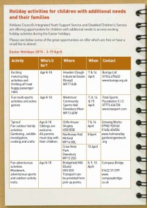 Kirklees easter 2015 activities page 1