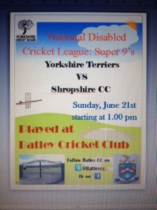 batley disabled cricket poster