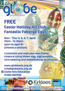 globe easter eggs craft session 2016